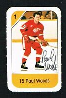 Paul Woods signed autograph auto 1982-83 Post Cereal NHL Hockey Card