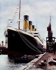 S.S. Titanic Southhampton United Kingdom Color Tinted Titanic At Dock 1912 GREAT
