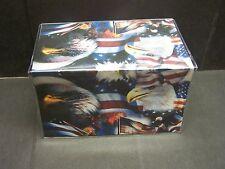 STATUE OF LIBERTY AMERICAN FLAG BALD EAGLE   VINYL CHECKBOOK COVER