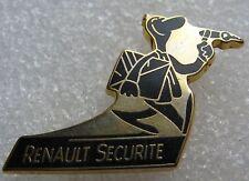 Pin's RENAULT Securité Le Technicien Noir et Dorée #1208