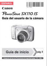 Canon Powershot Sx110 es Guia Del Usuario De La Camara-Español Manual De Usuario