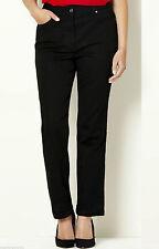 Straight Leg Cotton Blend High Rise Jeans for Women