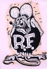 "ED ""BIG DADDY"" ROTH RAT FINK GIANT ORIGINAL VINTAGE DECAL STICKER"