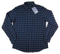 Levis Made & Crafted Standard Shirt Indigo Plaid Mens Long Sleeve Navy Blue