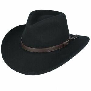 Cowboy Hat Crushable 100% Wool Felt Cowboy Hat Western Style American Cowboy Hat