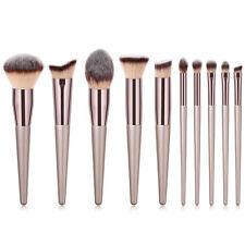 10Pc Pro Face Foundation Eyebrow Eyeshadow Brush Makeup Brush Set Tools Cosmetic