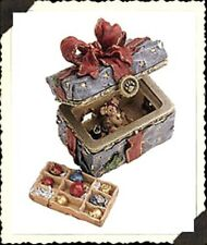 "Boyds Bears Treasure Box ""Topper's Ornament Box w/ Tangle McNibble"" #83012 -Nib-"