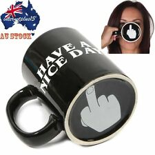 Have A Nice Day Middle Finger Ceramic Home Coffee Mug Cup Novelty Funny Gift NEW
