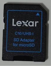LEXAR SD 2x Adattatore per 8 16 32 64 128 GB microSD microSDHC SD XC schede di memoria
