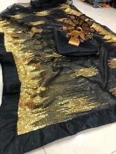 Bollywood Sari Wedding Indian Net Designer Saree Ethnic Saree Blouse with Inner