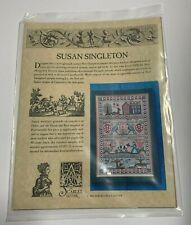 The Scarlet Letter Cross Stitch Chart Susan Singleton New Hampshire Sampler
