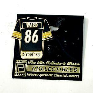 Hines Ward Pittsburgh Steelers Jersey Peter David Lapel Pin Vintage 2004 #86