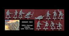 1/72 Emhar 7203 WWI German Infantry with tank crew toy soldiers