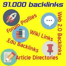 91,000 Backlinks Wiki's Articles EDU Unlimited URL's & KWDS *Plus Free Gift*