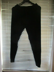 Lucy Knitted black leggings new 16-18