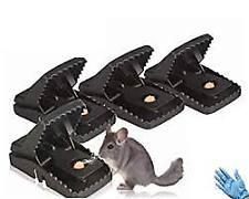 5 Pack Rat Traps - High Sensitive Snap Big Plastic Mouse Trap Rodent Catcher 6p