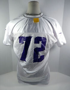 2013 Minnesota Vikings  #72 Game Issued White Practice Jersey