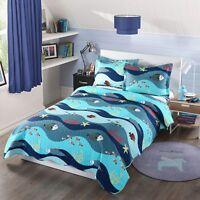 2pcs Kids Quilt Bedspread Comforter Set Throw Blanket for Boys Girls 276 quilt