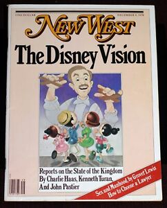 Walt Disney Magazine Cover 1978 NEW WEST Profile w/ Lord of the Rings color ad