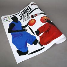 Fashion Art Wall Decals Boy Play Basketball Mural Stickers Kids Room Home Decor