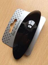 Accessoires de coiffure barrettes noir en plastique pour femme