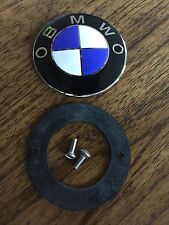 VINTAGE BMW TANK EMBLEM, RUBBER+S.S. SCREWS FITS R50/5, R60/5 AND R75/5 TANK