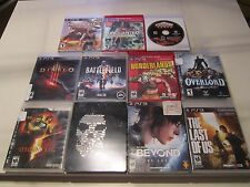 Sony PlayStation 3 PS3 Lot Of 11 Games - Watchdogs, Beyond, Diablo, Etc.