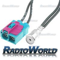 Dual Twin Double Fakra Socket to ISO Socket Aerial Adaptor Adapter Antenna