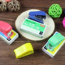 Super Mini Stapler Home Office Paper Document Bookbinding Machine Tool&Staple ec