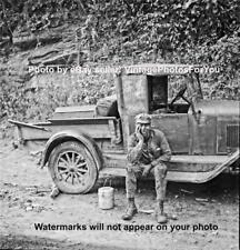 Vintage West Virginia Coal Miner Carbide Helmet Light/Lantern Chevy-Mining Photo