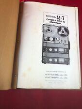 Akai Model M-7 Operator's Manuals reel to reel recorder M7