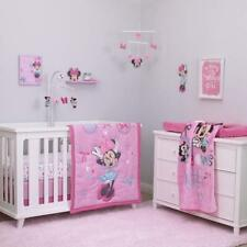 Crib Bedding Set 4Pc Minnie Mouse Nursery Infant Baby Girl Bedroom Comforter Set