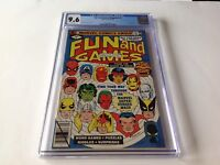 FUN AND GAMES MAGAZINE 1 CGC 9.6 WHITE PS BLACK PANTHER SPIDER-MAN MARVEL COMICS