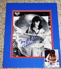 MARGOT KIDDER SIGNED B&W 8x10 WITH 11x14 MAT + PROOF PHOTO SUPERMAN LOIS LANE