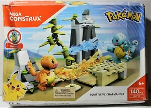 Pokemon Mega Construx Squirtle VS Charmander (140 pcs) Complete in squishy box