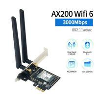 3000Mbps AX200 Intel WiFi 6 PCIE Card 802.11 ax PCI-E wifi Bluetooth 5.1 Adapter
