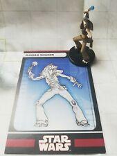 "Wizards Coast Star Wars Miniature Lot of 5 Gungan Soldier Shieldbearer 1.5/"" RPG"