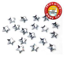 10 SWAROVSKI Kristalle Hotfix, 2816 Rivoli Star, 5 mm, Crystal (Strass Stern)