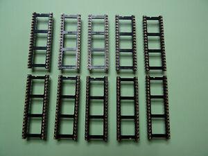 10 x IC Fassung, IC Sockel, Präzisionsfassung 40-polig.