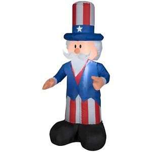 Patriotic Uncle Sam 4th of July Airblown Yard Inflatable by Gemmy Industries