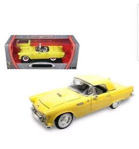 Yat Ming Scale 1:18 - 1955 ford Thunderbird with Removable Hard Top, Yellow