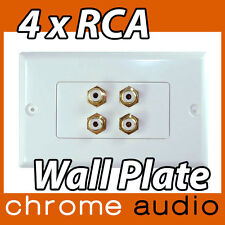 4 RCA Dual Stereo Wall Plate