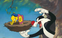 Warner Brothers-Tweety/Sylvester-Not Nest-essarily Love Limited Edition Cel