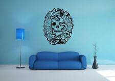 Wall Sticker Mural Decal Vinyl Decor Skull Snake And Roses Art
