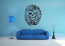 Wall Sticker Mural Decal Vinyl Decor Skull Snake And Roses Art