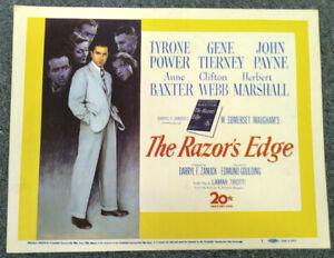 Razor's Edge '46 Norman Rockwell Power Gene Tierney Maugham Original Title Card