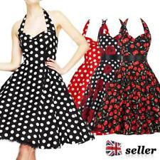 Rockabilly Spotted Regular Size Dresses for Women