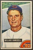 1951 Bowman #251 Willard Ramsdell - Cincinnati Reds - Rookie - NM