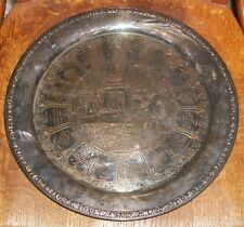 1932 WILLIAM BLACKINTON FOND RECOLLECTION SILVERPLATE DRINK TRAY BAR PROHIBITION