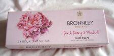 Bronnley Pink Peony and Rhubarb Soap 3 x 100 g